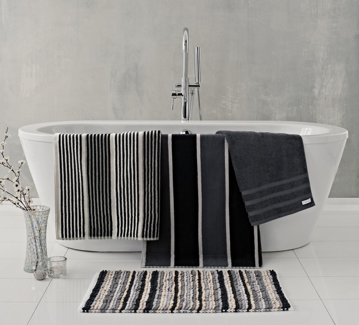 buy monochrome stripe towel from the next uk online shop