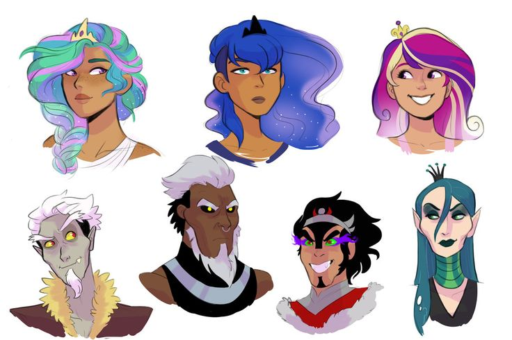 Human!Princesses and Villains Headshots by kilala97