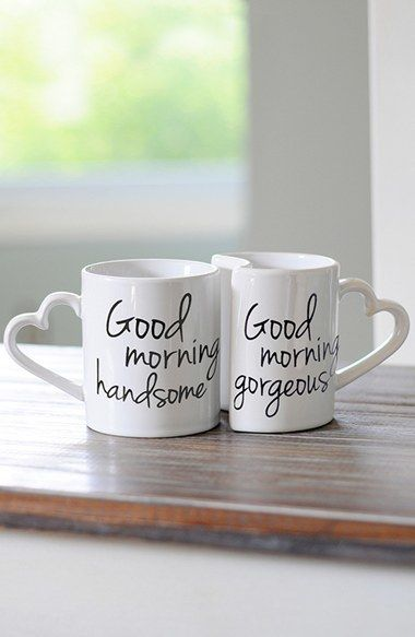 Trending On ShopStyle - Cathy's Concepts 'Good Morning' Ceramic Coffee Mugs (Set of 2). A set of nesting coffee mugs makes a perfect gift for any newlyweds, especially those who can't go without their morning joe.