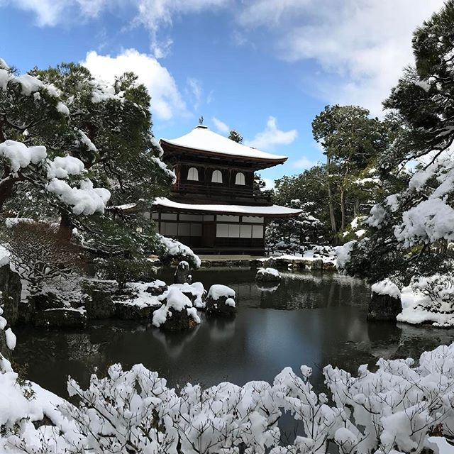 【nakaitaxi_kyoto】さんのInstagramをピンしています。 《中井タクシーの京都観光情報🚕 銀閣寺観音殿‼️ #Kyoto #Japan #Shrine #Temple #京都 #社寺 #紅葉 #桜》