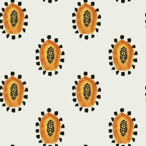 Astonishing Tempaper Genevieve Gorder Mayas Papayas Self Adhesive Interior Design Ideas Skatsoteloinfo