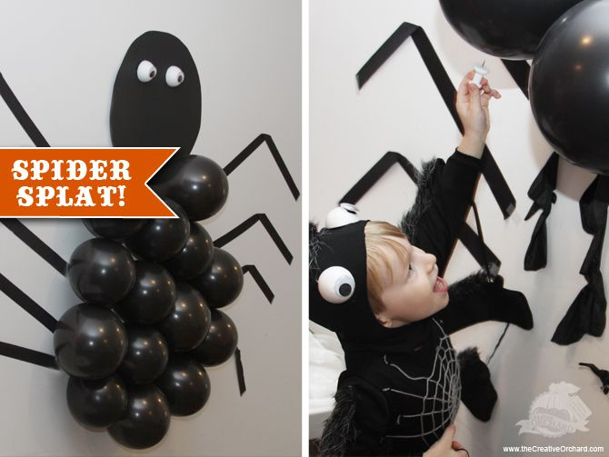 spider splat game halloween gameshalloween party - Game Ideas For Halloween Party