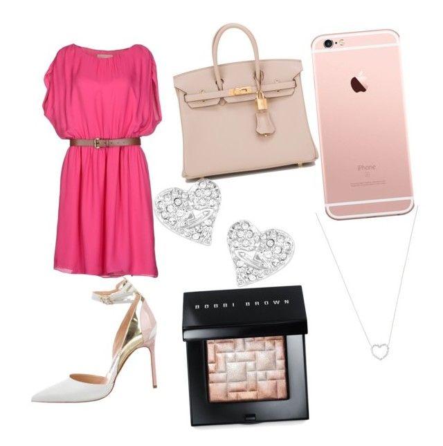 """Pinky"" by divya-prasana ❤ liked on Polyvore featuring MICHAEL Michael Kors, Hermès, Manolo Blahnik, Vivienne Westwood, Tiffany & Co. and Bobbi Brown Cosmetics"