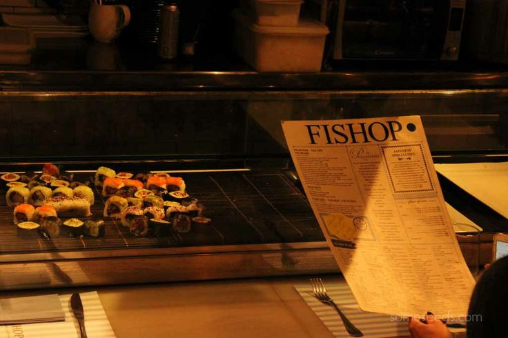It was early and just before lunch time when I visited and the chef was just putting out the sushi.
