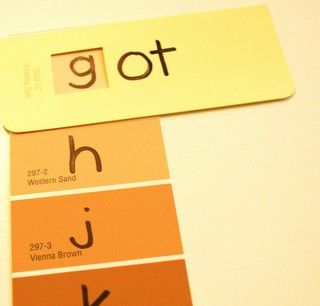 phonological awareness activity using paint samples