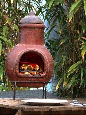 Maya Açık Hava Bahçe Şöminesi + Mangal (kırmızı) 8710K