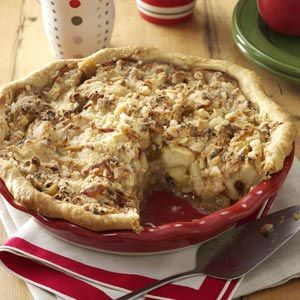 Apple Jack Crumb Pie Recipe from Taste of Home -- shared by Mary June Donovan of Clinton, Massachusetts