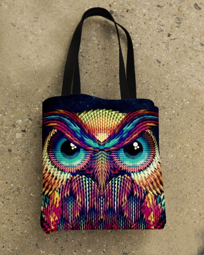 Owl 2 Tote Bag By Ali Gulec – ikiiki