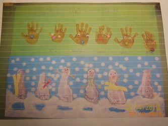 Snowmen & Reindeer bulletin board
