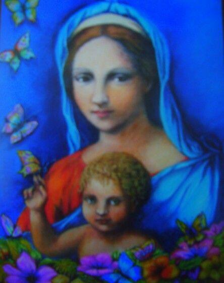 Virgen---Pastel--CARMELA