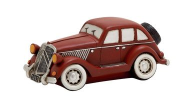 Maroon Polished Fantastic Polystone Car Piggy Bank
