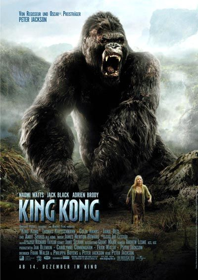 5/18/14  7:41p    ''King Kong''  Naomi  Watts Jack Black  Adrien Brody December 2005 Foreign Poster