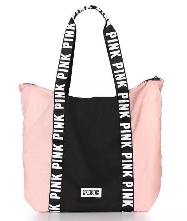 b0f502d1c05b8 24.99 ❤ VICTORIA S SECRET PINK ANORAK Windbreaker TOTE Nylon Euphoria Pink    Black NEW ❤  victorias  secret  anorak  windbreaker  euphoria  Asian ...