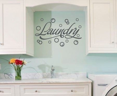 Wall Decal  Laundry Room with Bubbles by tweetheartwallart on Etsy, $17.00
