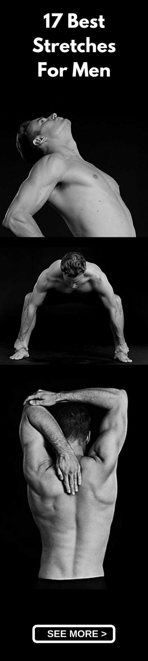 Men's Fitness : 17 Must-Do Stretches For Men | Pinterest | Stretches, Workout and Exercises