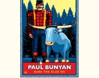 Landmark MN Paul Bunyan Winter by Mark Herman by NumericPress