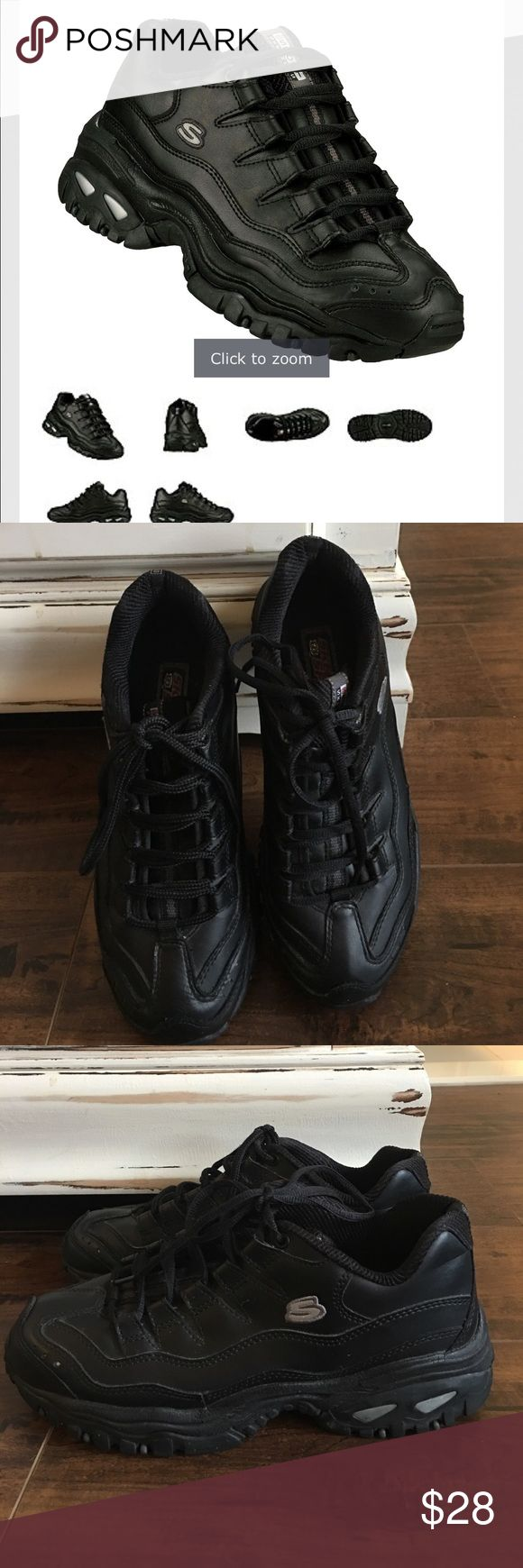 Skechers sport black shoes Great used condition. Smoke free and pet free home. Skechers Shoes Sneakers