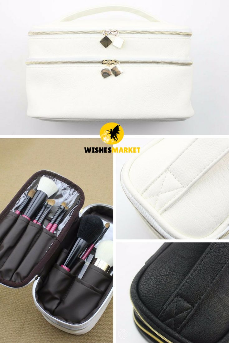 Makeup Brushes Holder Box PU Leather Make Up Case Cosmetic Tools  Makeup Brush Bag