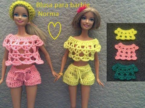 blusa para Barbie a crochet norma