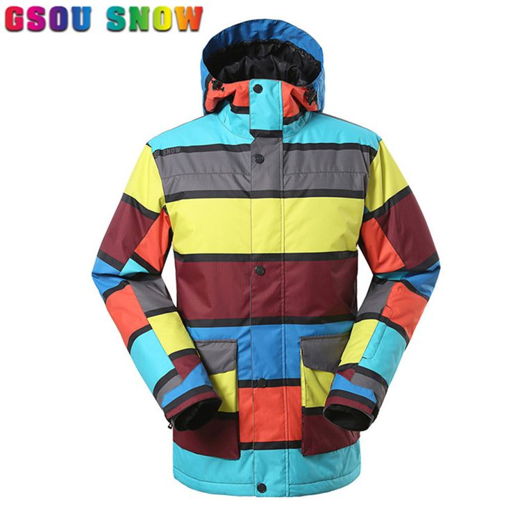 GSOU SNOW Brands Ski Jacket Men Hot Sale Winter Snow Snowboard Jacket High Quality Windproof Breathable Men Ski Jackets Ski Suit