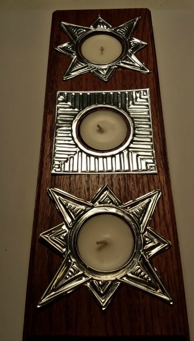 Metal Embossed Tea Light Holder - DIY from: My husband has too many hobbies @ blog.spot.com