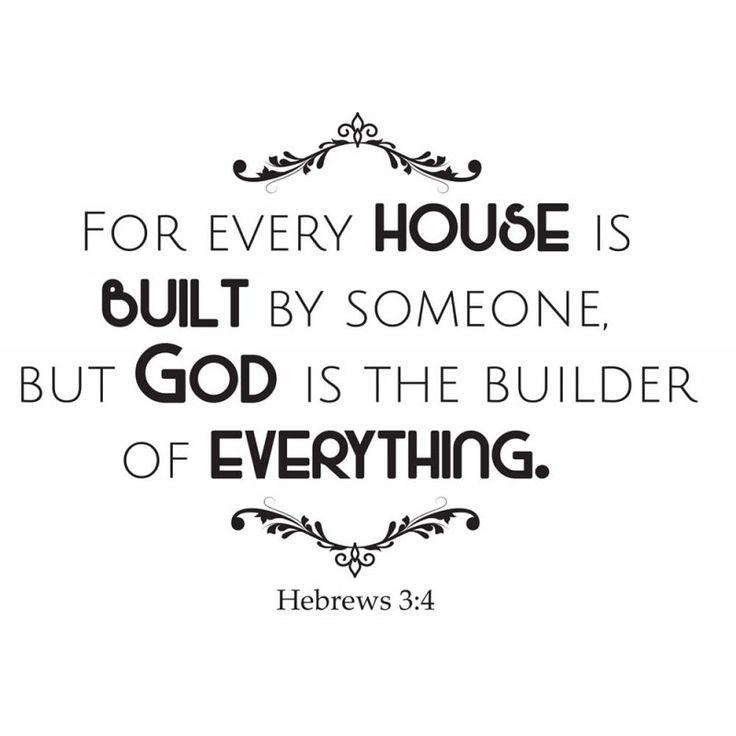 Hebrews 3:4 religious wall decor | Divine Walls