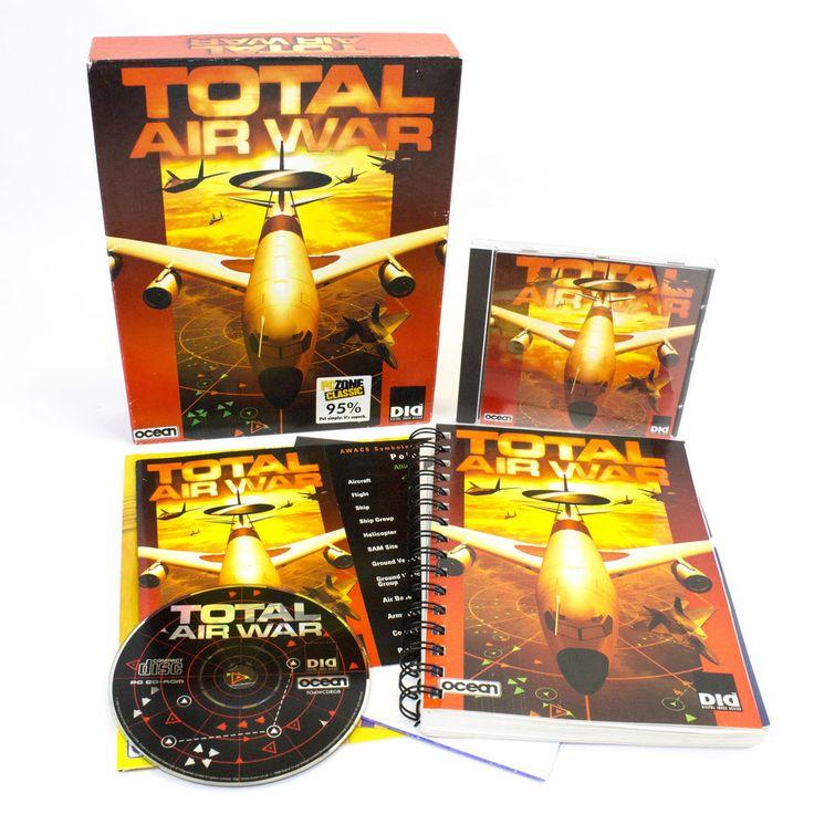 TOTAL AIR WAR for IBM PC CD-ROM by Infogrames, 1999 in big Box CIB, VGC