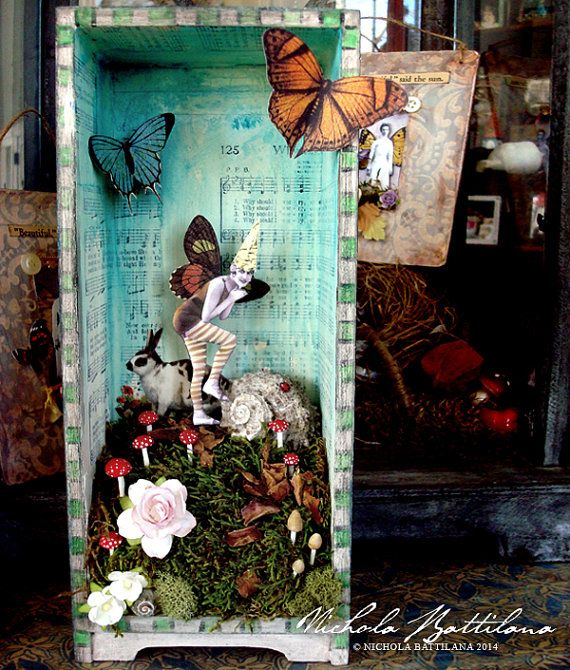 Whimsical Fantasy Fairy Shrine by PixieHillStudio on Etsy, $135.00