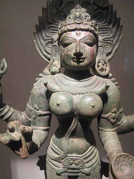 Bronze statue of Kali.
