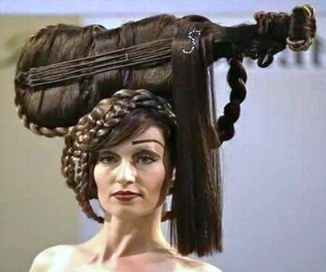 Penteados bizarros e extravagantes