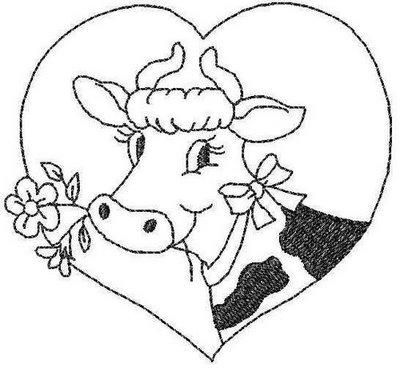 Cow coloring page - too cute
