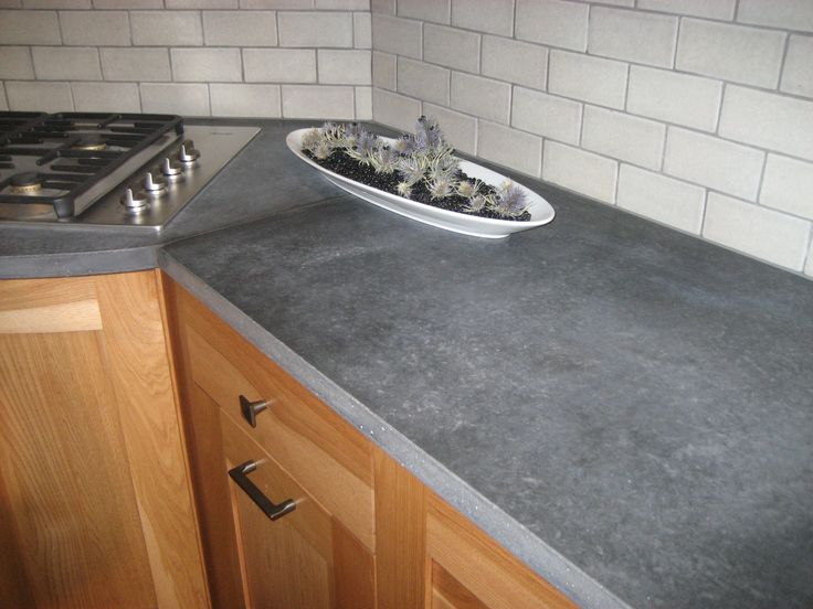 Countertop Made From Recycled Paper And Glass Plus Cement.