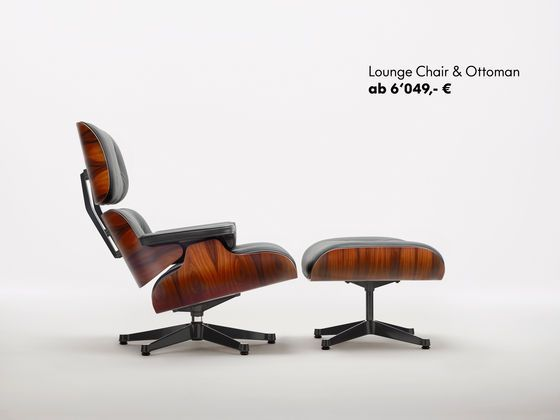 Vitra shop eames lounge chair and ottoman for Stuhl designklassiker vintage