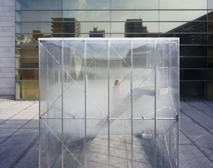 "Cloudscapes at MOT by Tetsuo Kondo Architects + TRANSSOLAR / Matthias Schuler ""Location: Tokyo, Museum of Contemporary Art, Japan"" 2012"