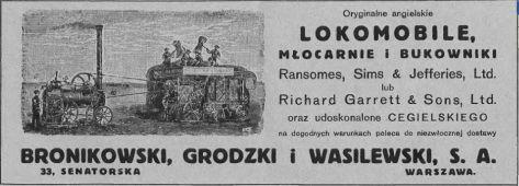 Przeglądając pamiętniki ziemiańskie trafić można czasami na opis tajemniczego urządzenia o nazwie lokomobila, używanego do różnego rodzaju prac polowych. Wydaje się, że w okresie...