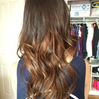 brown hair with balayage underneath , Google Search