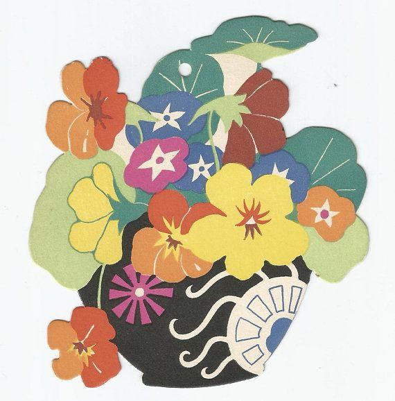 graphic regarding Printable Bridge Tallies identify Traditional Artwork Deco die minimize floral basket of bouquets bridge