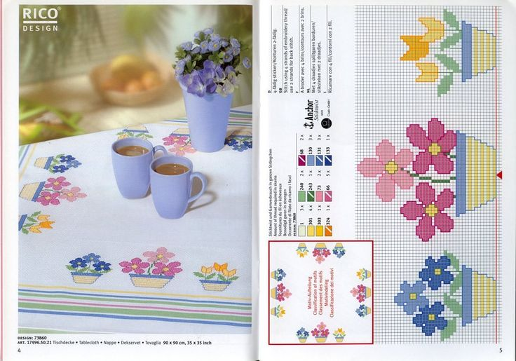 Just Cross Stitch Patterns. Cute for place mats or towels