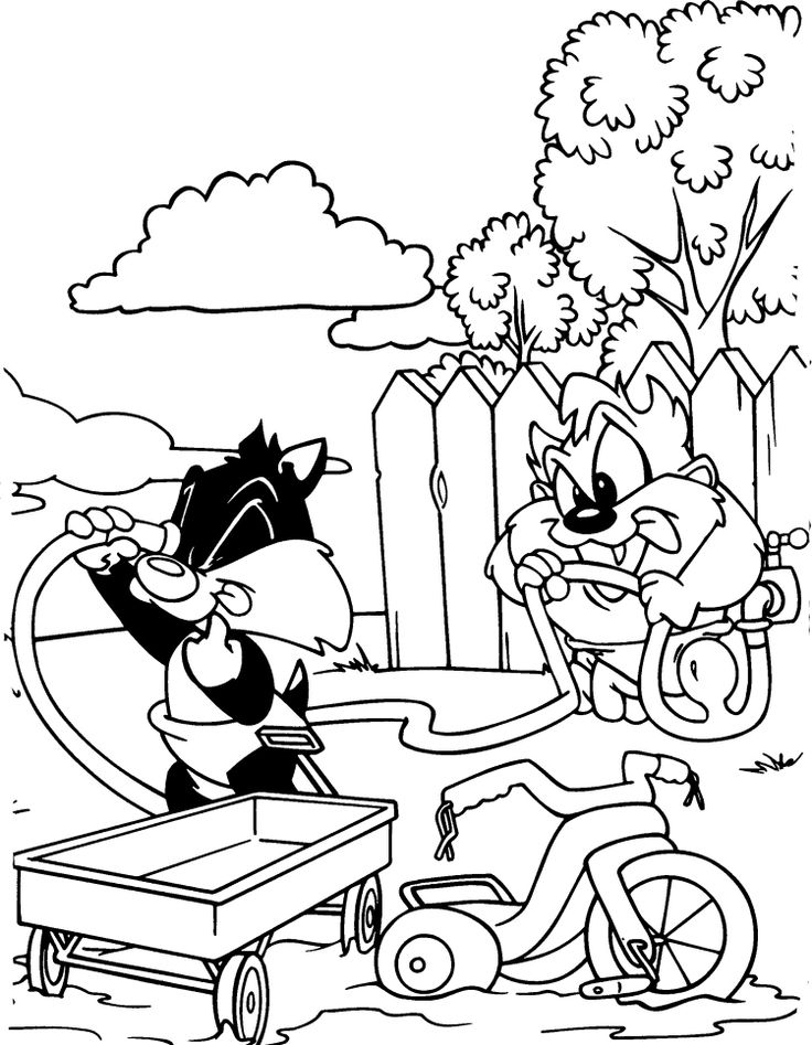 looney tune christmas coloring pages - photo#13