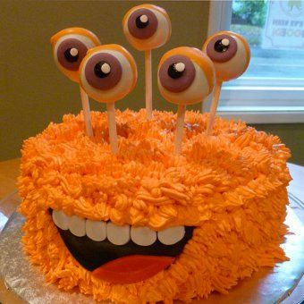 decoration gateau yeux