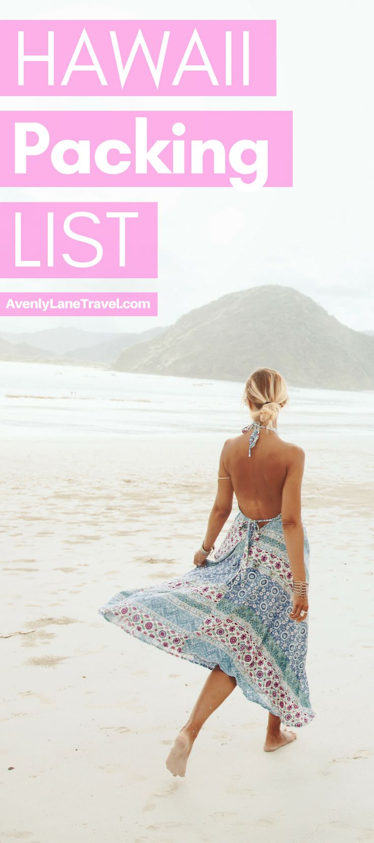 Are you planning a trip to Hawaii and not sure what to bring? This Hawaii packing list will help you get organized for your beach vacation. It covers the best Hawaii beach wear, outfits, shoes, dresses for Hawaii, electronics and even toiletries I recommend for Hawaii. Read the full article on Avenlylanetravel.com | #hawaii #Islands #packinglist #travel #beaches