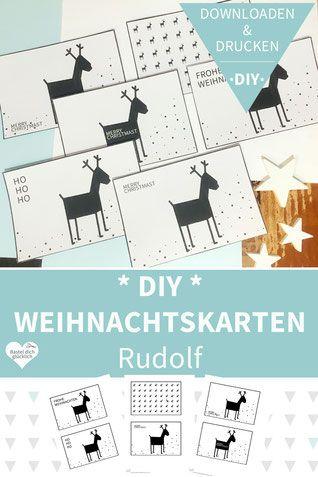 Weihnachtskarten Foto Gestalten.Diy Weihnachtskarten Drucken Und Basteln Rudolf Inspiration