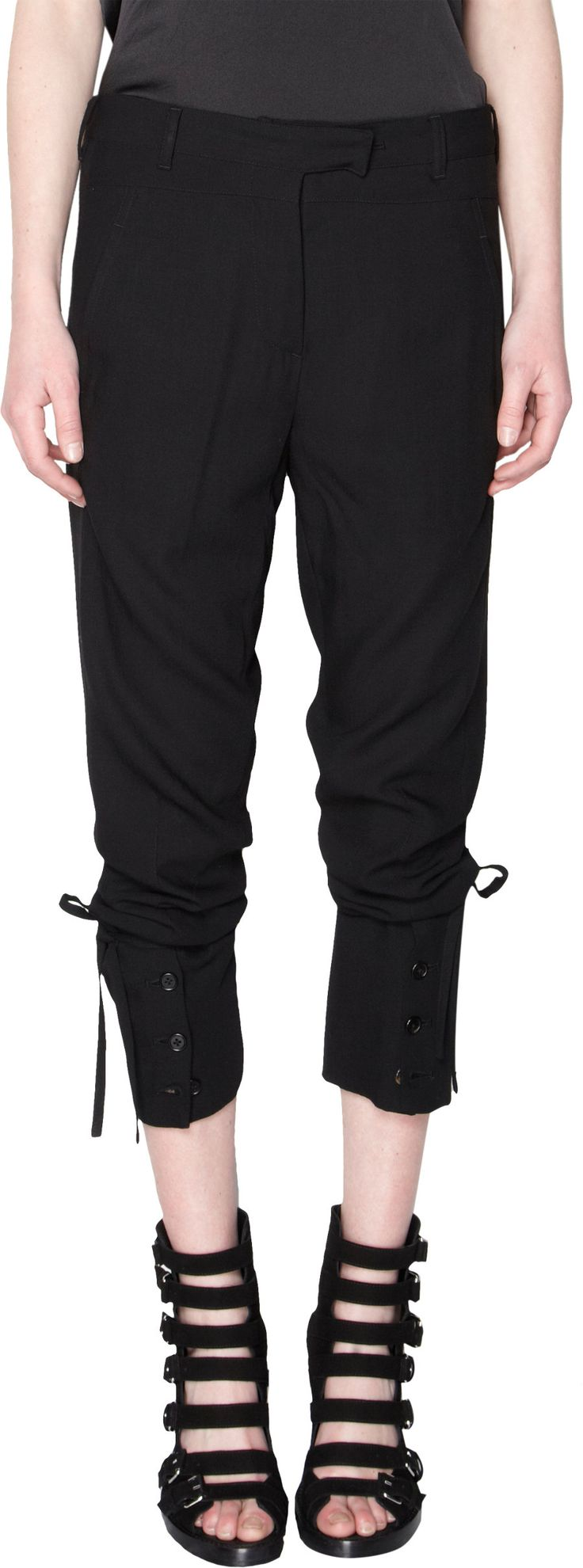 FALL 2013: ANN DEMEULEMEESTER Convertible Trousers