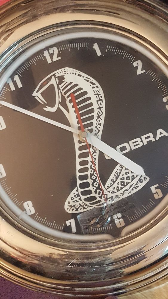 """Shelby Cobra black Logo 14"""" Lighted Wall Clock~make me an offer today~bargain~~~ #CollectableSignClock"""