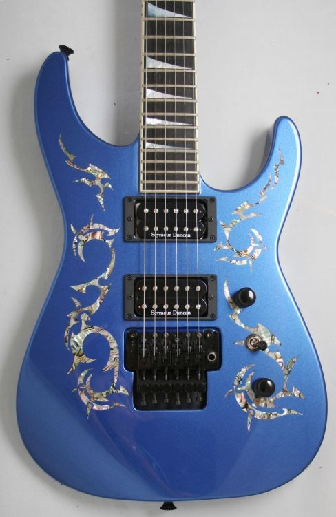 Jackson USA Custom Shop SL2H Soloist (Metallic Blue, Abalone). Not a Luna, but awfully pretty