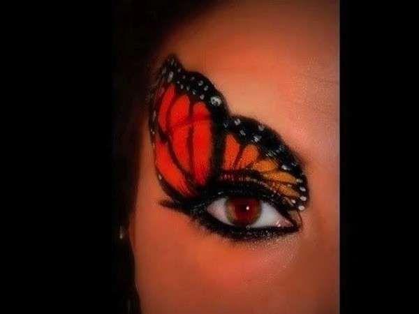 Idee make up farfalla per Carnevale - Trucco ad ali di farfalla per Carnevale