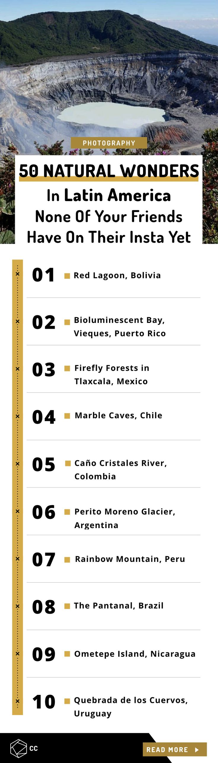 50 Natural Wonders in Latin America That None Of Your Friends Have On Their Insta Yet.  Top natural wonders in Latin America that will fill you with wanderlust and make you want to visit them. Most of them still haven't seen many travelers
