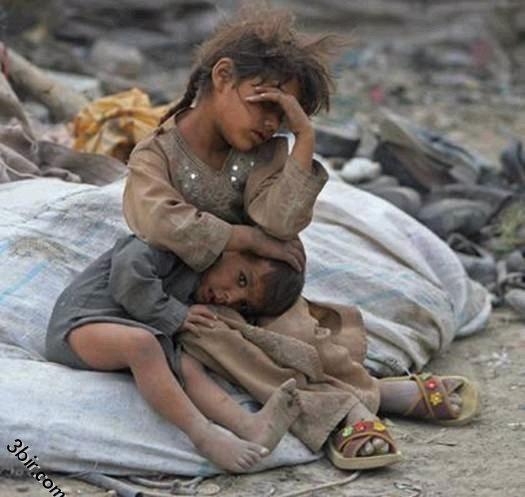 Enfants sans maison. Conditions de vie difficiles.