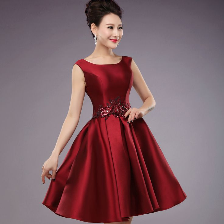Suosikki vestidos de fiesta 2017 Short Scoop Formal Gown Lace up back Embroidery  Short Cute Robe De Cocktail dress
