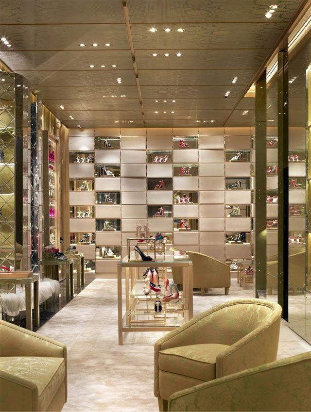 retail interiors luxury inspiration interior design gold retail
